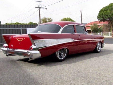 blown 57 chevy belair custom muscle car sales